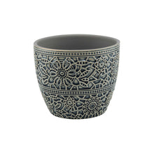 Load image into Gallery viewer, BLOOMY flower pot ornaments 10,8cm grey