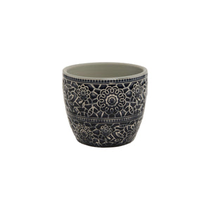BLOOMY flower pot ornaments 7,8cm grey