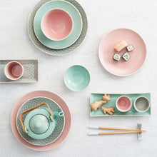 Load image into Gallery viewer, HANAMI dessert plate stripes pink