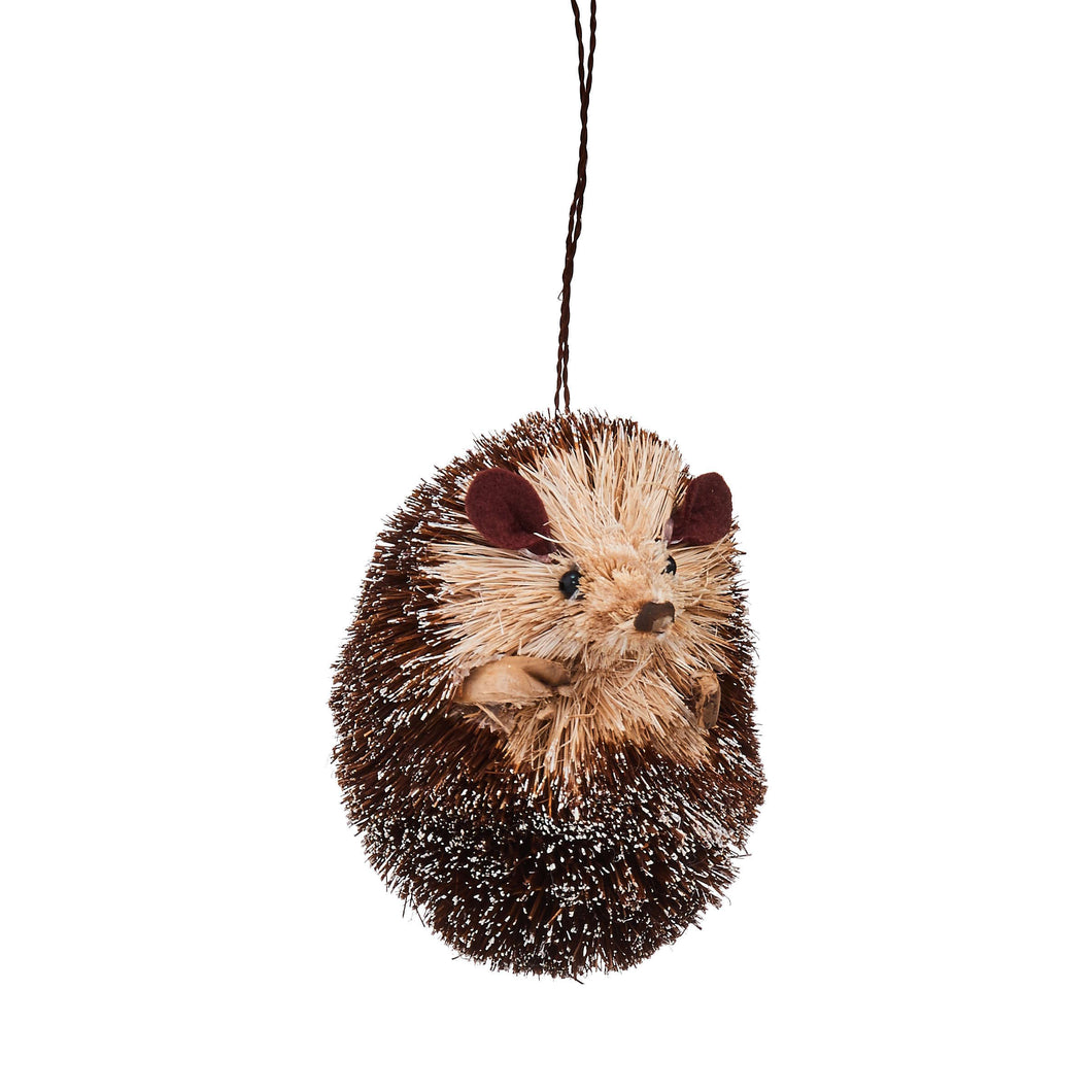 HANG ON rolled-up straw hedgehog