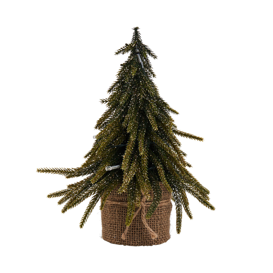 TREE OF THE MONTH gold finish w.LED 28cm