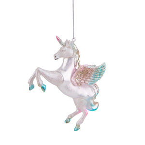 HANG ON glass ornament unicorn