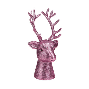X-MAS deer head 16cm gold
