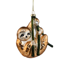 Load image into Gallery viewer, HANG ON glass ornament sloth 11cm