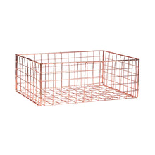 Load image into Gallery viewer, DEPOSIT iron basket 34x24x13cm rose gold
