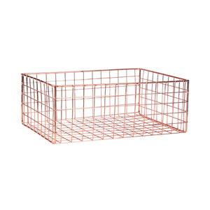 DEPOSIT iron basket 34x24x13cm rose gold