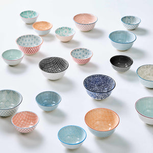 ORNAMENTS bowl blue/red 240 ml