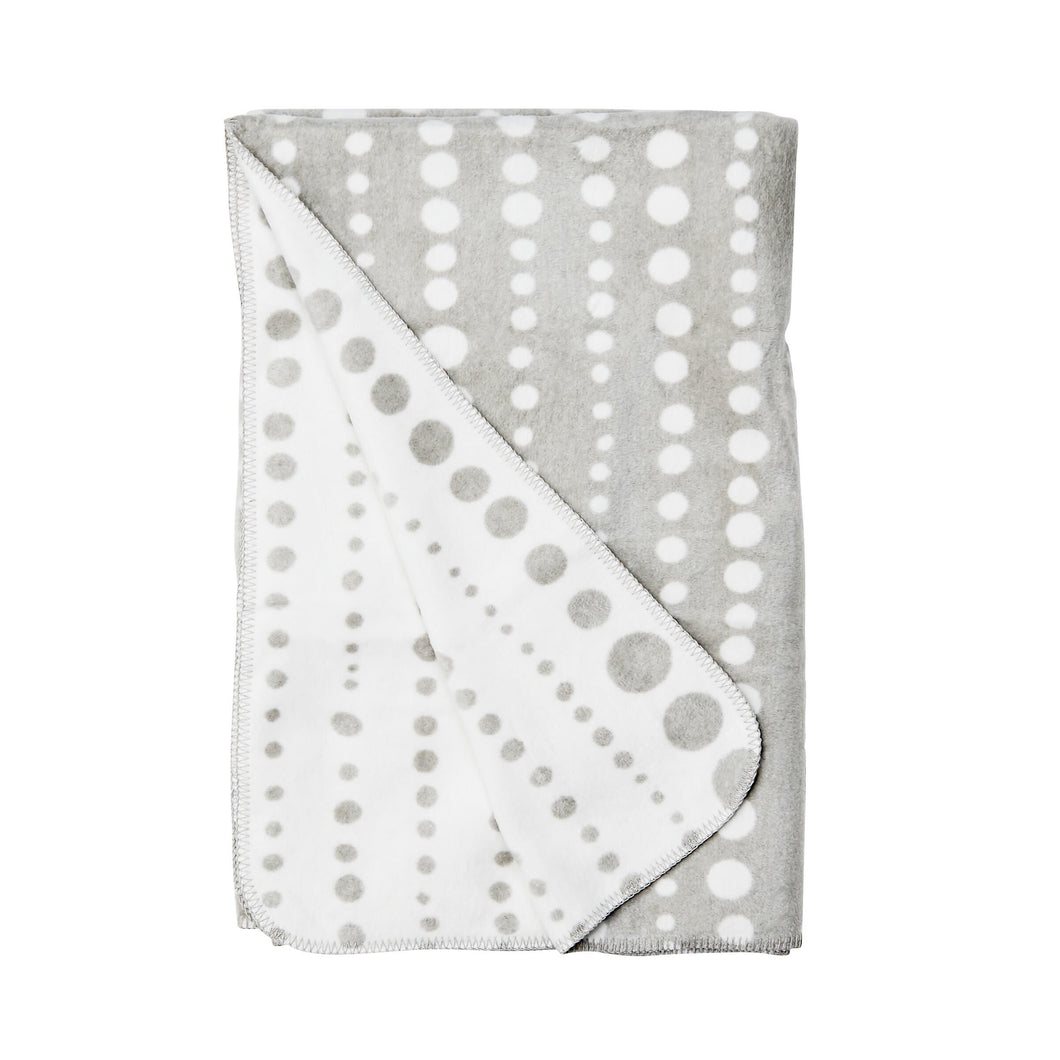 MACIO flanel blanket dots grey/ white