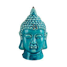 Load image into Gallery viewer, BUDDHA  ceramic head turquiose