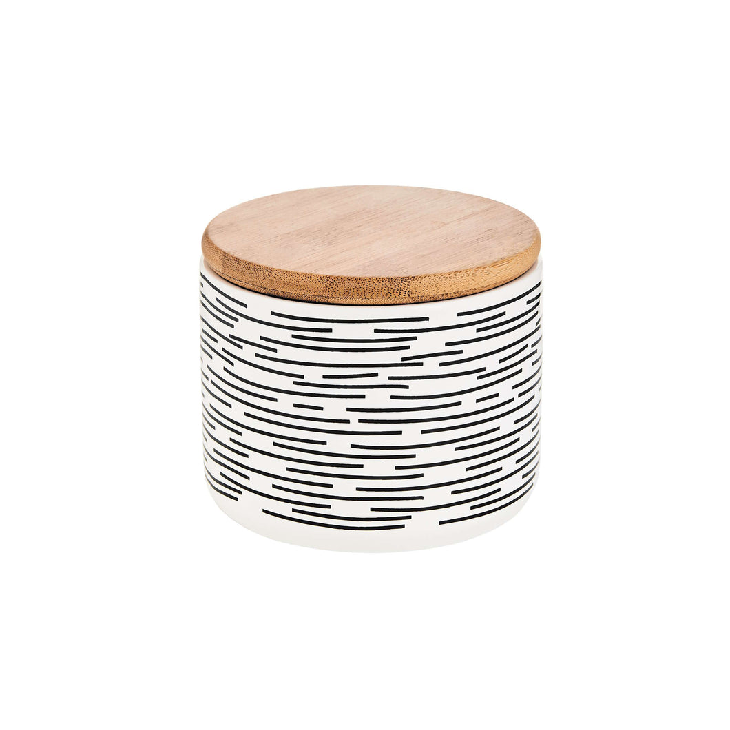 QUEEN IT storage box stripes b/w S