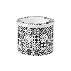 BARRASCA  ashtray tiles black