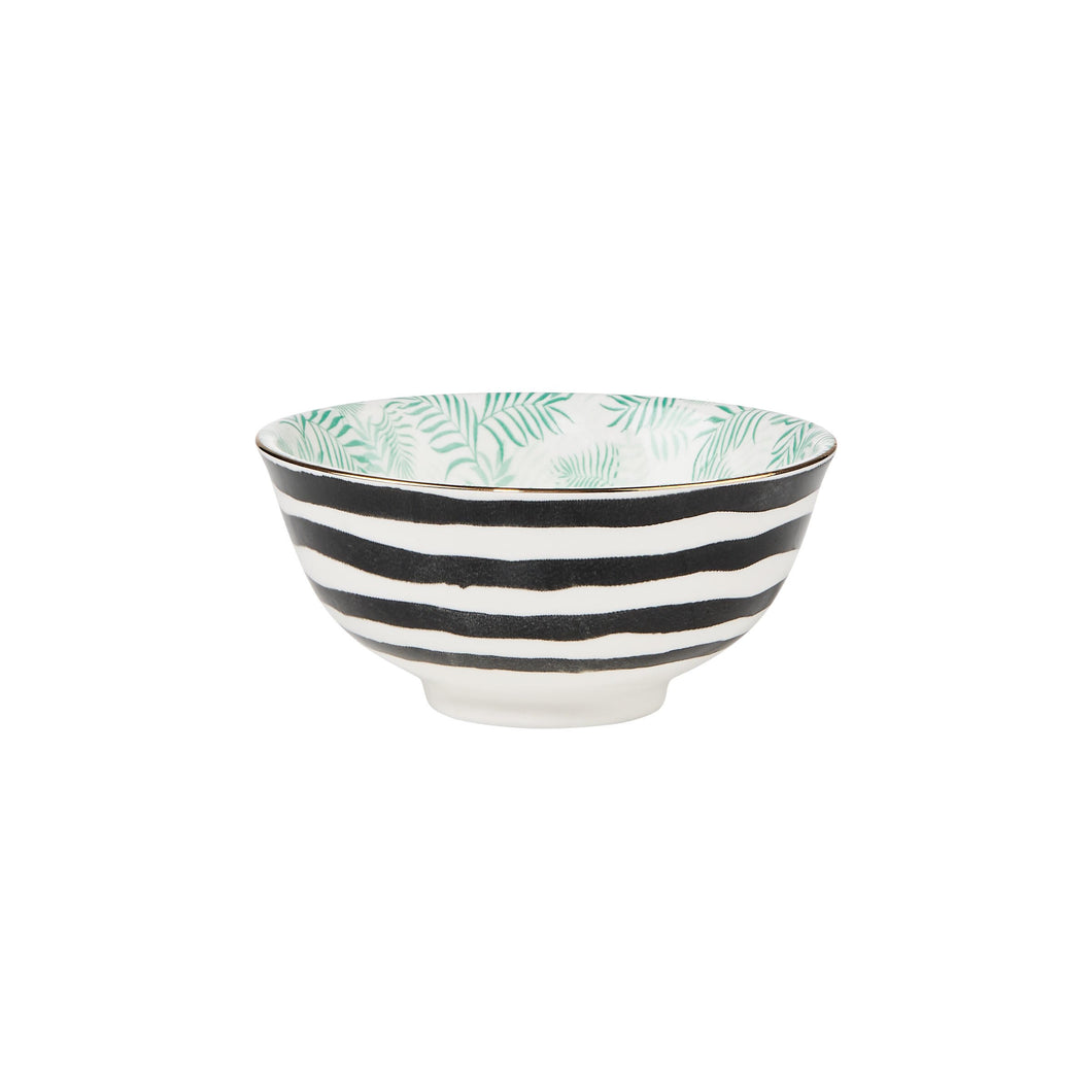 ORNAMENTS bowl green/black 240 ml