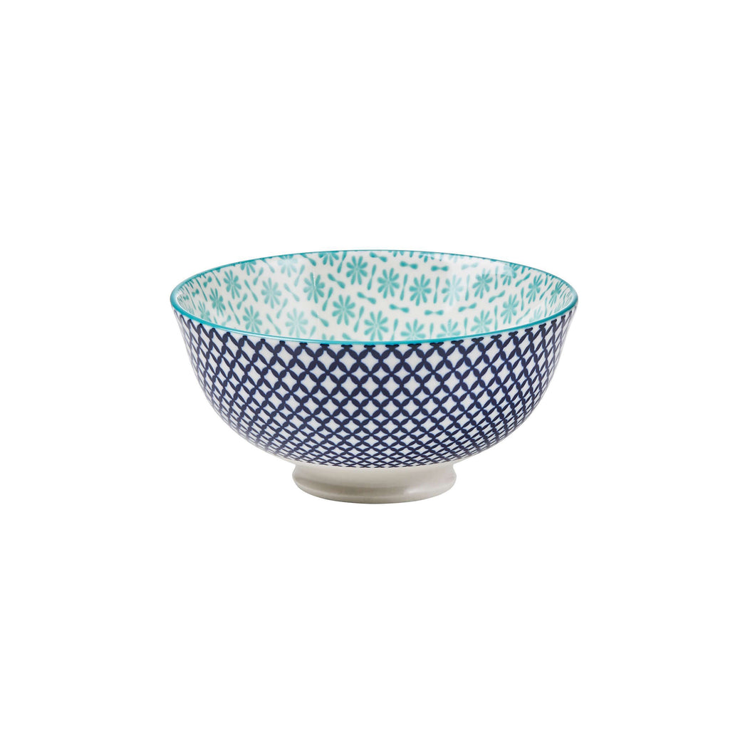 ORNAMENTS  240 ml bowl turquoise/blue