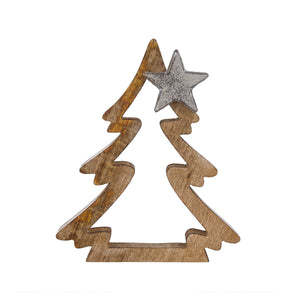 NOEL Fir with star application 19cm
