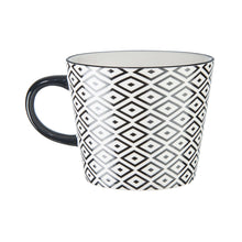 Load image into Gallery viewer, ORNAMENTS mug black/white design 1