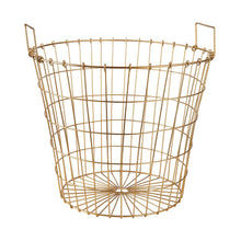 Load image into Gallery viewer, WIRE metall basket gold with handels L