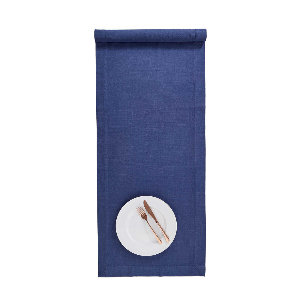 BLUE DAYS table runner, blue, 160x50 cm