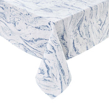 Load image into Gallery viewer, BLUE MARBLE table cloth, 160x160 cm