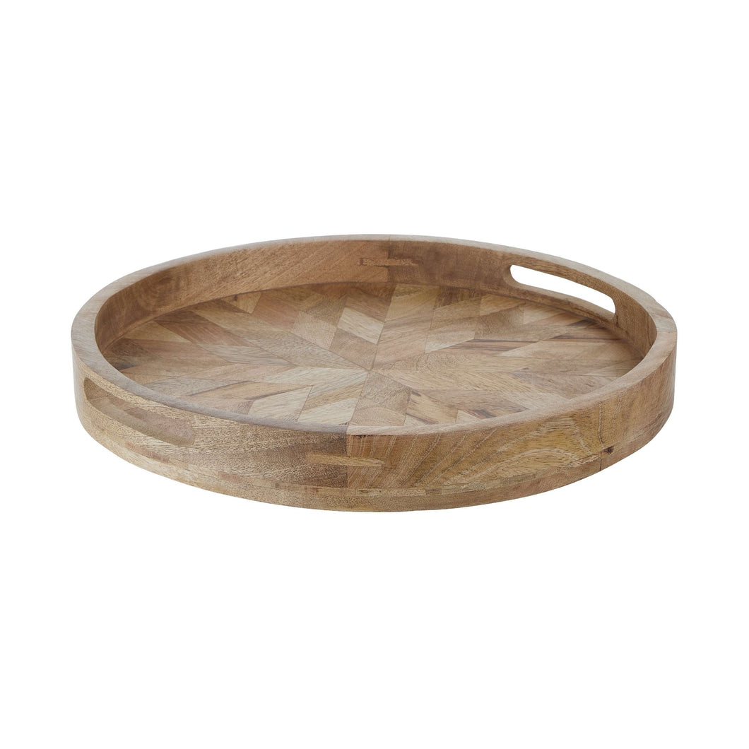 MANGO DAYS wooden tray round Ø 40 cm