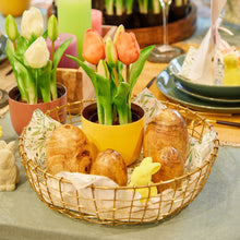 Load image into Gallery viewer, GRID wire basket gold Ø 30cm