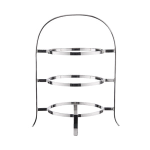 LOBBY Etagere f. 3plates,stainless steel
