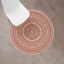Load image into Gallery viewer, COLOUR CLASH rug Ø118cm rusty red