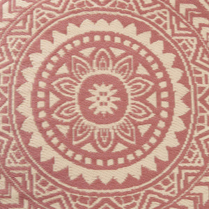 COLOUR CLASH rug Ø118cm rusty red