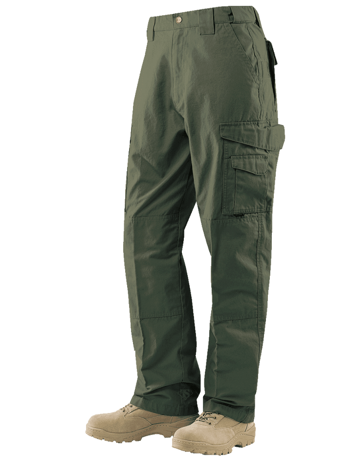24-7 Series Tactical Pants- 6.5oz. 65/35 Polyester/Cotton Rip-Stop- Ranger Green
