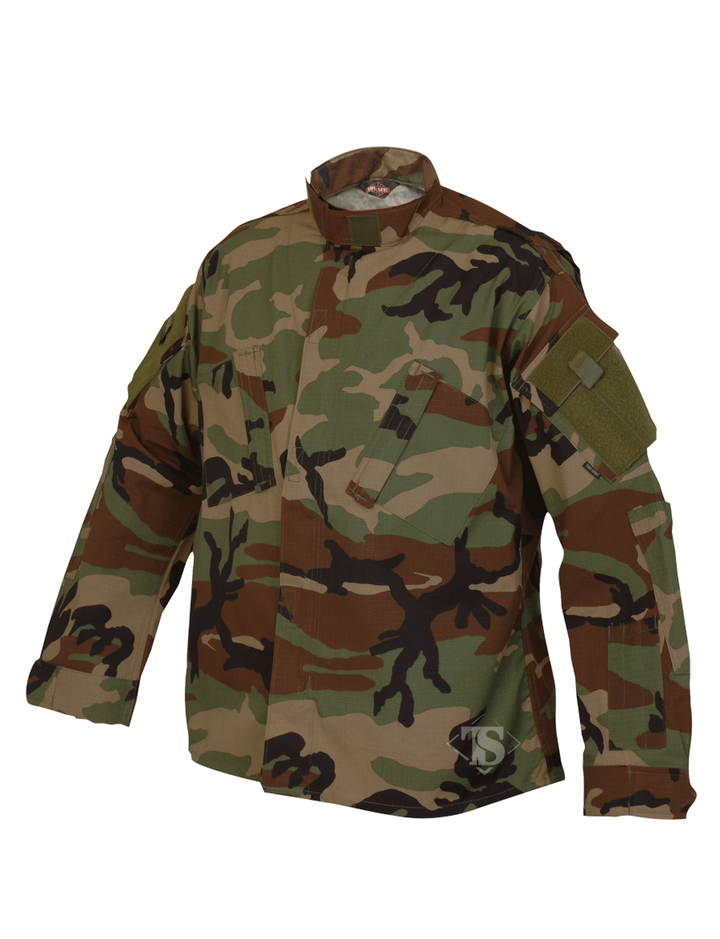 Tru-Spec Tactical Response Uniform Shirt- Woodland Camo