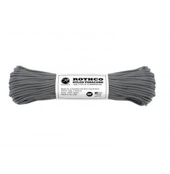 USA Made 550 Type III Commercial Paracord- 100 Feet- CHARCOAL