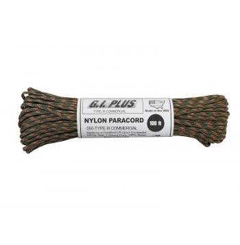 USA Made 550 Type III Commercial Paracord- 100 Feet- CAMO