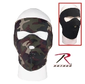 Facemask. Reversible Neoprene. Black and Camo