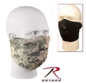 Reversible neoprene half-mask acu/black