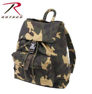 Woodland Camouflage Canvas Daypack