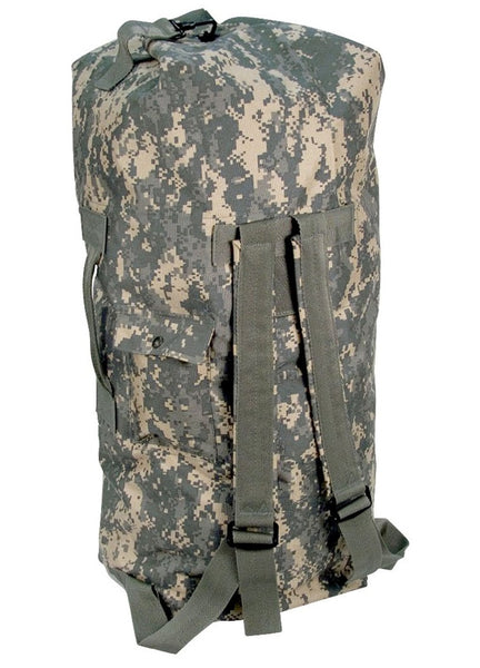 Army Digital Camo Enhanced Double Strap Duffel Bag