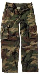 Kid's Woodland Camo Vintage Paratrooper Fatigues