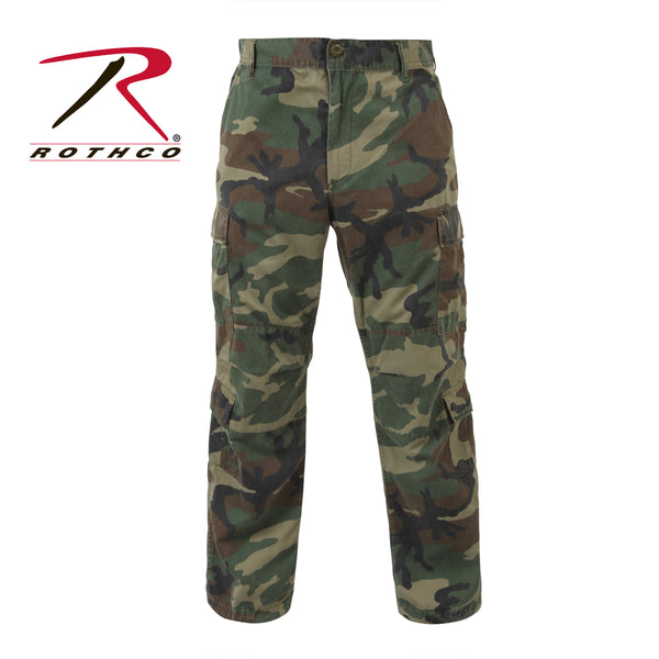 Vintage Paratrooper Fatigues- Woodland Camouflage-