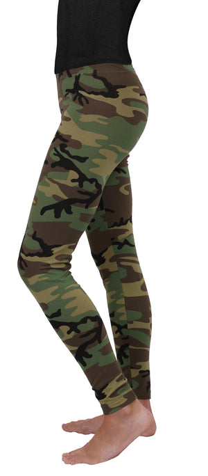 Womens Woodland Camo Leggings