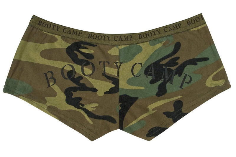 "Women's Woodland Camo  ""Booty Camp"" Shorts & Top"