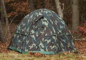 Woodlland Camouflage 3-Man Dome Tent