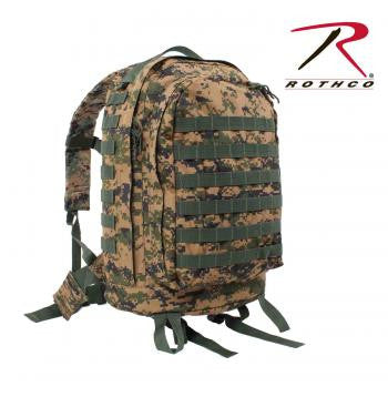 Tactical M.O.L.L.E. II  3 Day Assault Backpack- Woodland Digital