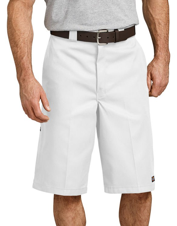 "Dickies Loose Fit 13""  Multi-Pocket Work Short- WHITE"