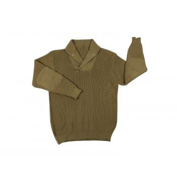 Classic WWII Vintage Mechanics Sweater- KHAKI