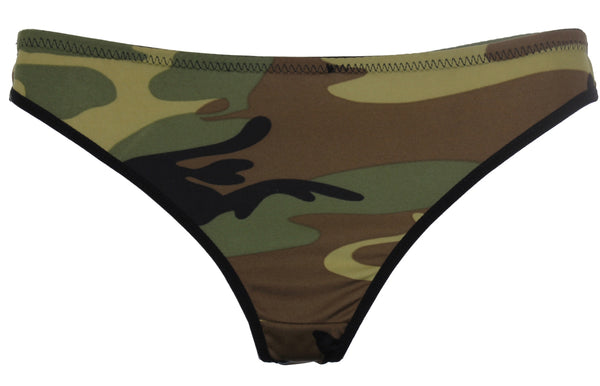 Women's Woodland Camo Thong