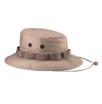 Boonie Hat Khaki -100% Rip-Stop or Poly/Cotton Blend