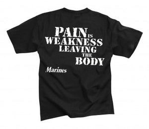 "Marines...""Pain is Weakness""  T-Shirt"