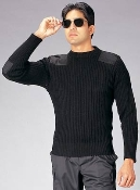 Government Black Wool Commando Sweater