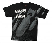 "Vintage Black Tee- ""Make it rain"""
