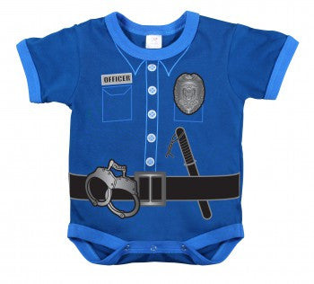 Infant One Piece Bodysuit- Police Uniform