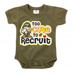 Infant One Piece Bodysuit- Too Cute to Recruit
